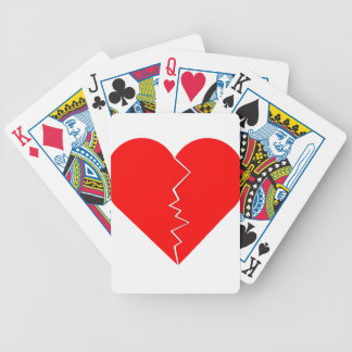 Cracked And Broken Heart Bicycle Playing Cards