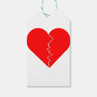 Cracked And Broken Heart Gift Tags