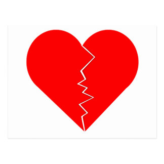 Cracked And Broken Heart Postcard
