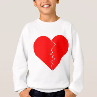 Cracked And Broken Heart Sweatshirt