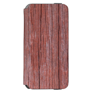 Cracked and softened red board wall incipio watson™ iPhone 6 wallet case