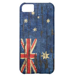 Cracked Australian Flag Peeling Paint Effect iPhone 5C Case