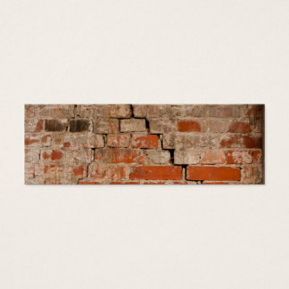 Cracked brick wall mini business card