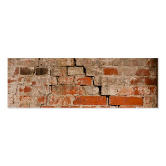 Cracked brick wall pack of skinny business cards