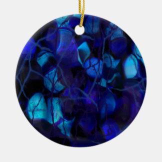 Cracked Bubbles Round Ceramic Decoration