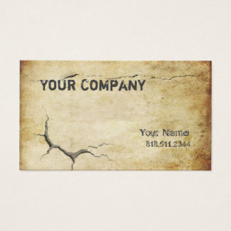 Cracked Business Card