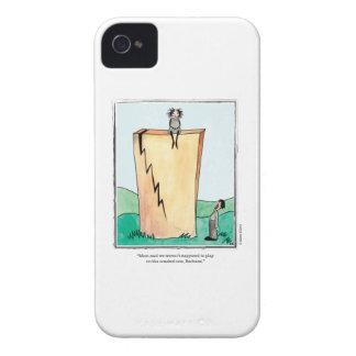 CRACKED cartoon by Ellen Elliott Case-Mate iPhone 4 Cases