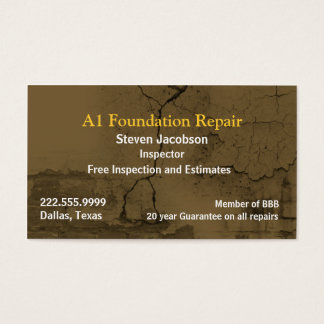 Cracked Concret and Plaster Business Card