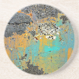Cracked Concrete Series Beverage Coasters