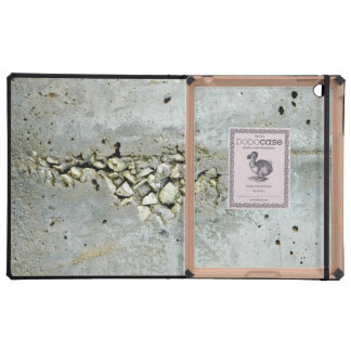 Cracked concrete wall with small stones case for iPad
