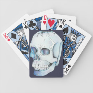 Cracked Crystal Skull Bicycle Playing Cards