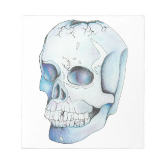 Cracked Crystal Skull Notepad