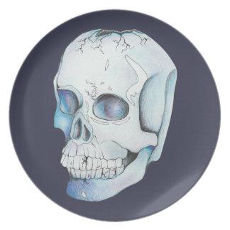 Cracked Crystal Skull Plate