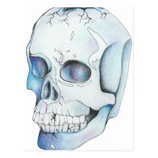 Cracked Crystal Skull Postcard