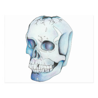 Cracked Crystal Skull Postcard