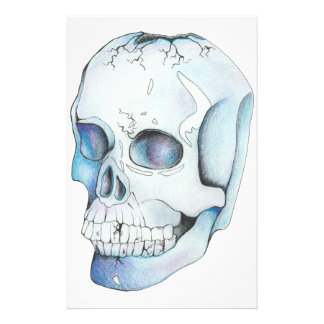 Cracked Crystal Skull Stationery