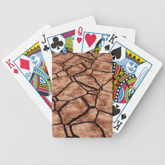 Cracked Earth Bicycle Playing Cards