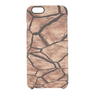 Cracked Earth Clear iPhone 6/6S Case