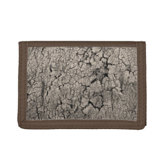 Cracked Earth Cool Texture Tri-fold Wallet