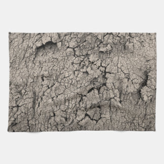 Cracked Earth Dirt Cool Texture Tea Towel