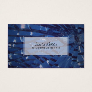 Cracked Glass Windshield Repair Business Card