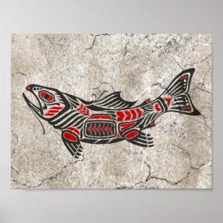 Cracked Haida Spirit Fish Posters