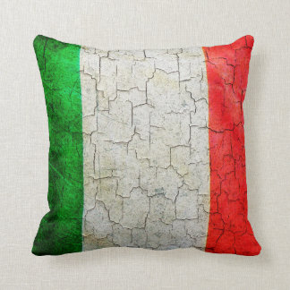 Cracked Italy flag Cushion