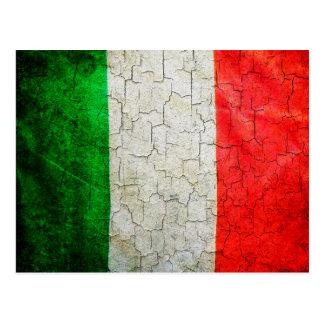 Cracked Italy flag Postcard