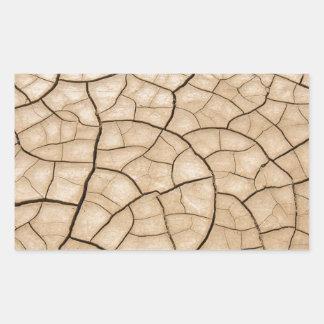 Cracked Mud Rectangular Sticker