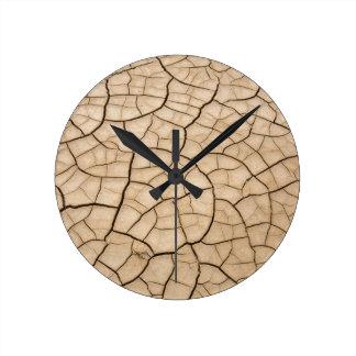 Cracked Mud Round Clock
