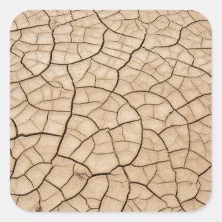 Cracked Mud Square Sticker