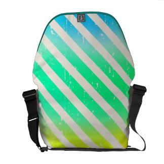 Cracked Ombre Stripes Rickshaw Messenger Bag