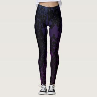 Cracked paint Purple/Magenta Leggings