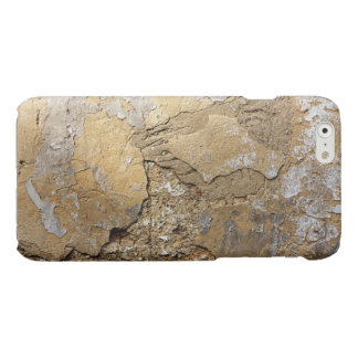 Cracked plastered wall. glossy iPhone 6 case