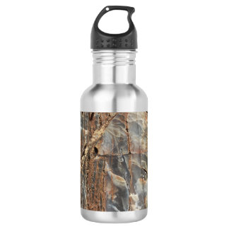 Cracked Quartz Mineral Texture 532 Ml Water Bottle