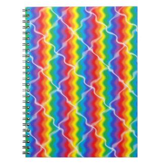 Cracked Rainbow Spiral Notebook