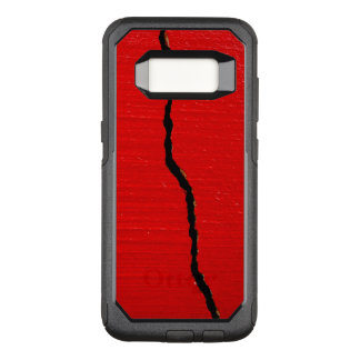 Cracked Red Paint OtterBox Commuter Samsung Galaxy S8 Case