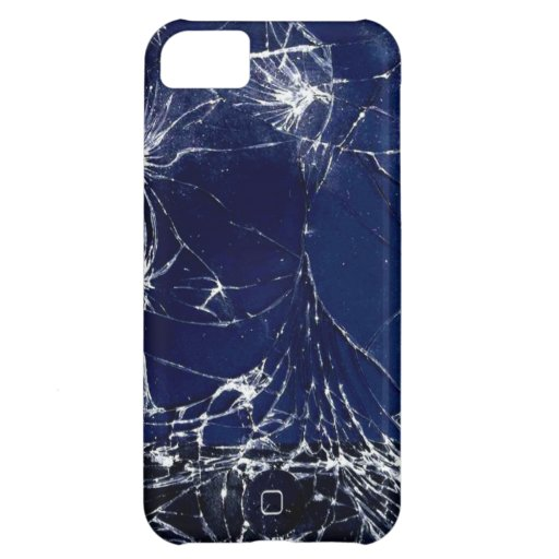 Cracked screen cover for iPhone 5C