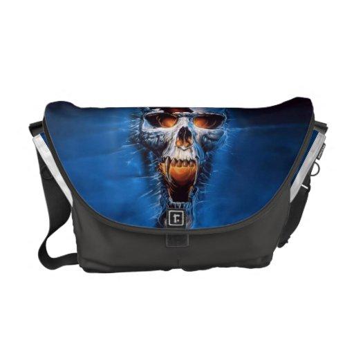 Cracked Skull Messenger Bag