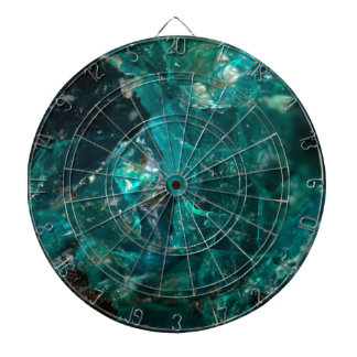 Cracked Teal Sugar Dartboard
