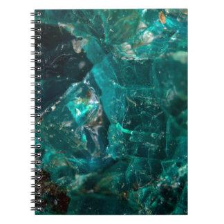 Cracked Teal Sugar Notebook