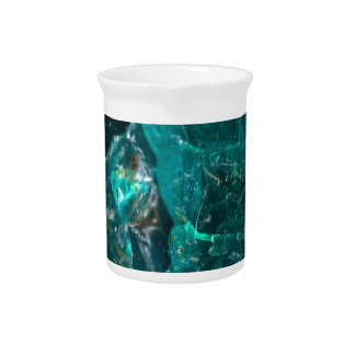 Cracked Teal Sugar Pitcher
