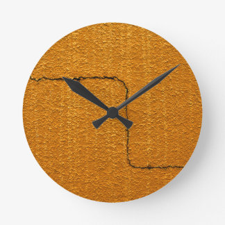 Cracked Wall Texture Round Clock