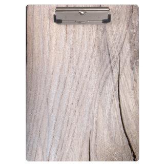 Cracked Wood Grain Design Clipboard