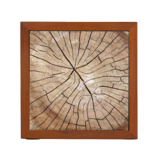 Cracked Wood Grain Desk Organizer