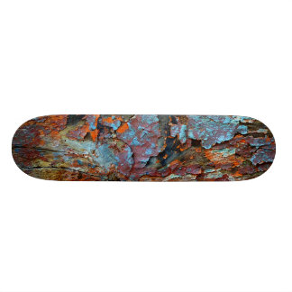 Cracked wood skateboard. skateboard deck