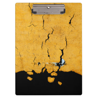 Cracked Yellow Road Paint Clipboard