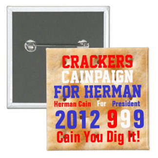 Crackers Cainpaign For Herman 15 Cm Square Badge