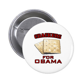 Crackers for Obama 6 Cm Round Badge
