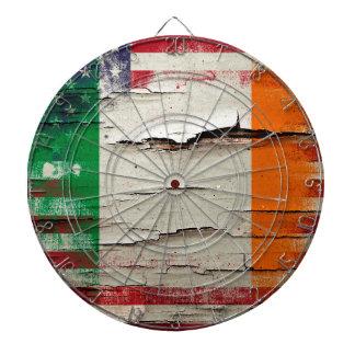 Crackle Paint | Irish American Flag Dartboard